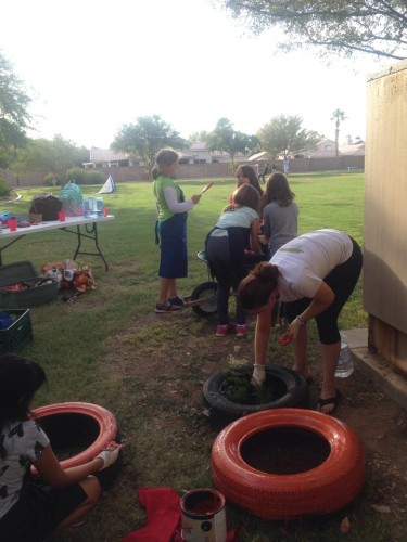 2015 Planting and Painting with Boys and Girls Clubs of the East Valley
